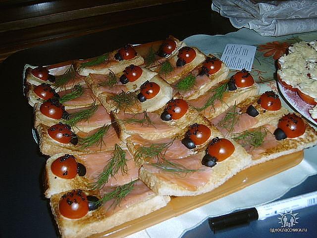 Бутерброды на праздничный стол с фото бутерброды